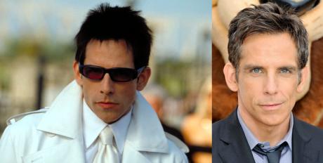 Ben Stiller poderia facilmente fazer um remake do Zoolander se ele pintasse o cabelo e usasse batom novamente. Pelo menos a cara não mudou.
