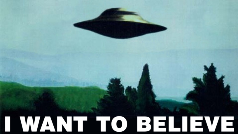 "Poster do Arquivo-X ""I Want to Believe"""